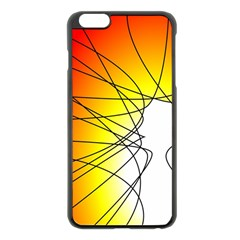 Spirituality Man Origin Lines Apple Iphone 6 Plus/6s Plus Black Enamel Case