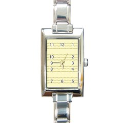 Background Pattern Lines Rectangle Italian Charm Watch