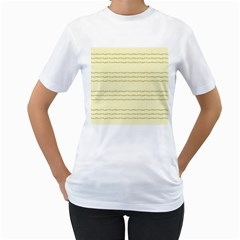 Background Pattern Lines Women s T-Shirt (White) (Two Sided)