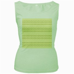 Background Pattern Lines Women s Green Tank Top
