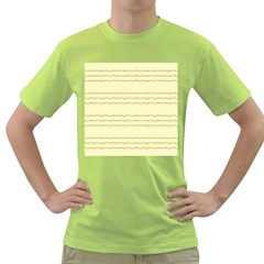 Background Pattern Lines Green T Shirt