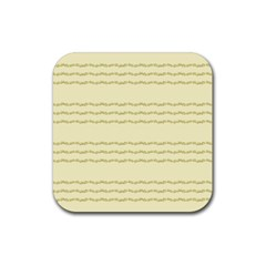 Background Pattern Lines Rubber Coaster (square)