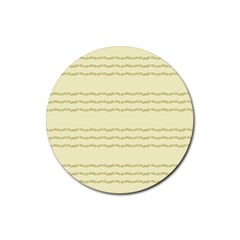 Background Pattern Lines Rubber Round Coaster (4 Pack)