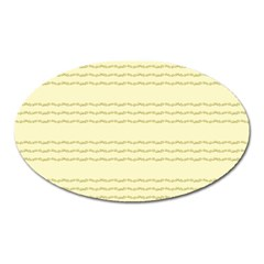 Background Pattern Lines Oval Magnet