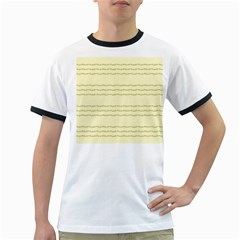 Background Pattern Lines Ringer T Shirts