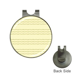 Background Pattern Lines Hat Clips with Golf Markers