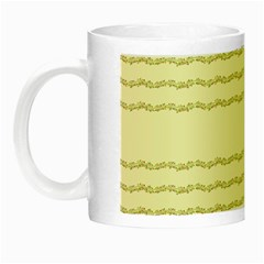 Background Pattern Lines Night Luminous Mugs