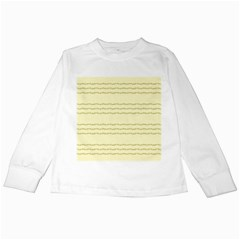 Background Pattern Lines Kids Long Sleeve T Shirts
