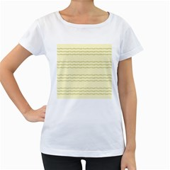 Background Pattern Lines Women s Loose Fit T Shirt (white)