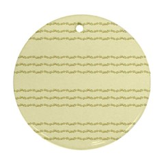 Background Pattern Lines Round Ornament (two Sides)