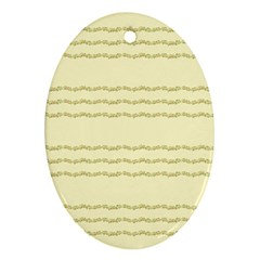 Background Pattern Lines Oval Ornament (two Sides)