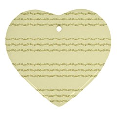 Background Pattern Lines Heart Ornament (two Sides)