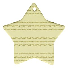 Background Pattern Lines Star Ornament (two Sides)