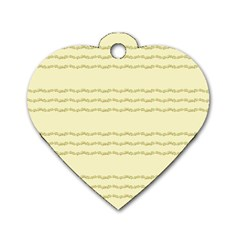 Background Pattern Lines Dog Tag Heart (two Sides)