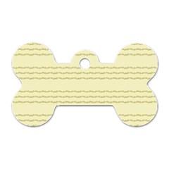 Background Pattern Lines Dog Tag Bone (one Side)
