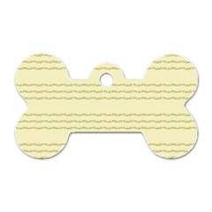 Background Pattern Lines Dog Tag Bone (two Sides)