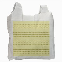 Background Pattern Lines Recycle Bag (two Side)