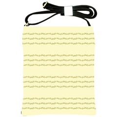 Background Pattern Lines Shoulder Sling Bags