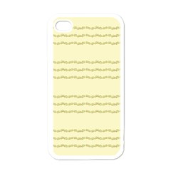 Background Pattern Lines Apple iPhone 4 Case (White)
