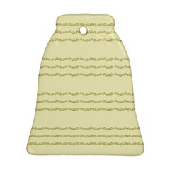Background Pattern Lines Bell Ornament (two Sides)