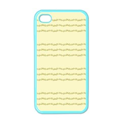 Background Pattern Lines Apple Iphone 4 Case (color)