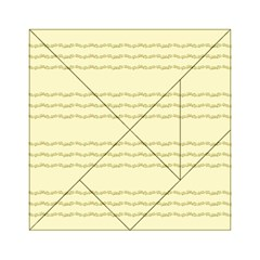 Background Pattern Lines Acrylic Tangram Puzzle (6  X 6 )