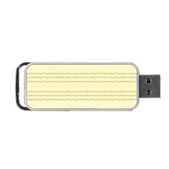 Background Pattern Lines Portable USB Flash (One Side)