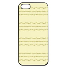 Background Pattern Lines Apple Iphone 5 Seamless Case (black)