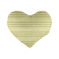 Background Pattern Lines Standard 16  Premium Heart Shape Cushions