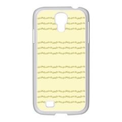 Background Pattern Lines Samsung Galaxy S4 I9500/ I9505 Case (white)