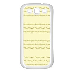 Background Pattern Lines Samsung Galaxy S3 Back Case (white)