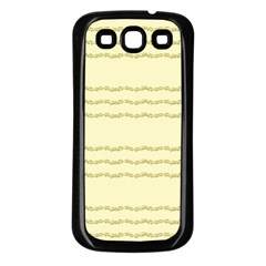 Background Pattern Lines Samsung Galaxy S3 Back Case (black)