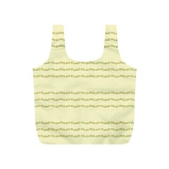 Background Pattern Lines Full Print Recycle Bags (s)