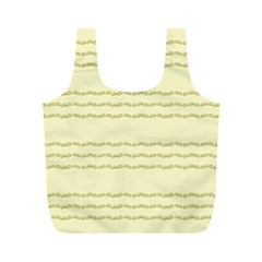 Background Pattern Lines Full Print Recycle Bags (m)