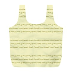 Background Pattern Lines Full Print Recycle Bags (l)