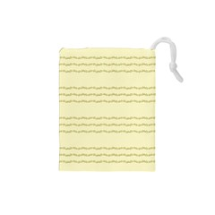 Background Pattern Lines Drawstring Pouches (small)