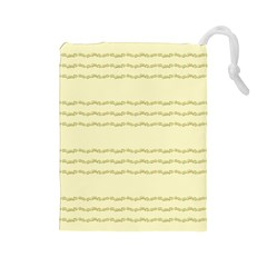 Background Pattern Lines Drawstring Pouches (large)