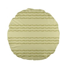 Background Pattern Lines Standard 15  Premium Flano Round Cushions