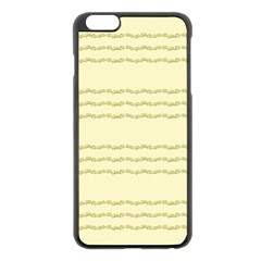 Background Pattern Lines Apple Iphone 6 Plus/6s Plus Black Enamel Case