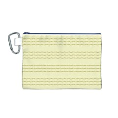 Background Pattern Lines Canvas Cosmetic Bag (m)
