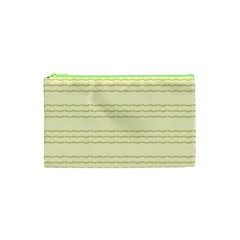 Background Pattern Lines Cosmetic Bag (XS)