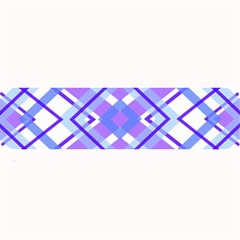 Geometric Plaid Pale Purple Blue Large Bar Mats