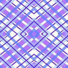 Geometric Plaid Pale Purple Blue Magic Photo Cubes