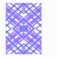 Geometric Plaid Pale Purple Blue Large Garden Flag (two Sides)