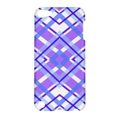 Geometric Plaid Pale Purple Blue Apple Ipod Touch 5 Hardshell Case