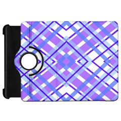 Geometric Plaid Pale Purple Blue Kindle Fire Hd 7