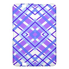 Geometric Plaid Pale Purple Blue Kindle Fire Hd 8 9