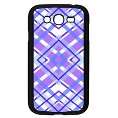 Geometric Plaid Pale Purple Blue Samsung Galaxy Grand Duos I9082 Case (black)