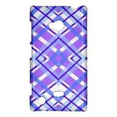 Geometric Plaid Pale Purple Blue Nokia Lumia 720