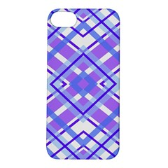 Geometric Plaid Pale Purple Blue Apple iPhone 5S/ SE Hardshell Case
